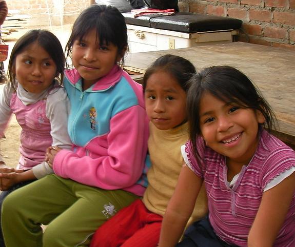 ペルーで活動に参加した子供達