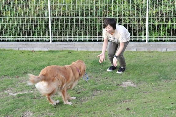 晴れた日には、Dog Runで思い切り走り回って遊びます