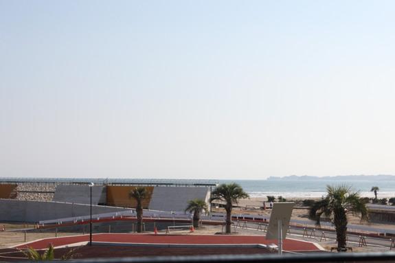 防波堤建設の様子