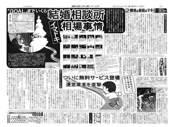 東京スポーツ 掲載記事