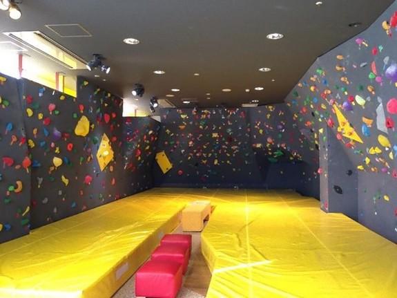 壁の下に分厚いマットが!年齢や性別、障害にかかわらず楽しめます。