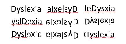 Dyslexiaの見え方の一例