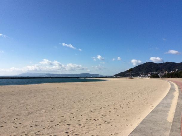 須磨海岸の様子