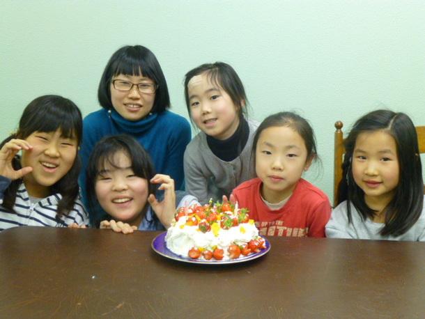 1月の誕生日ケーキ
