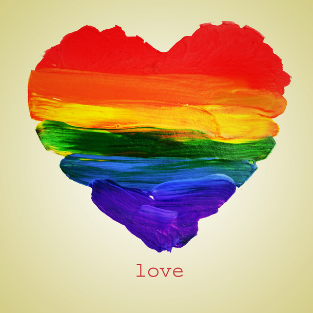 LGBTのテーマカラーである虹色