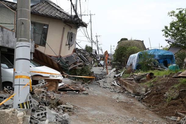 被災した熊本の写真