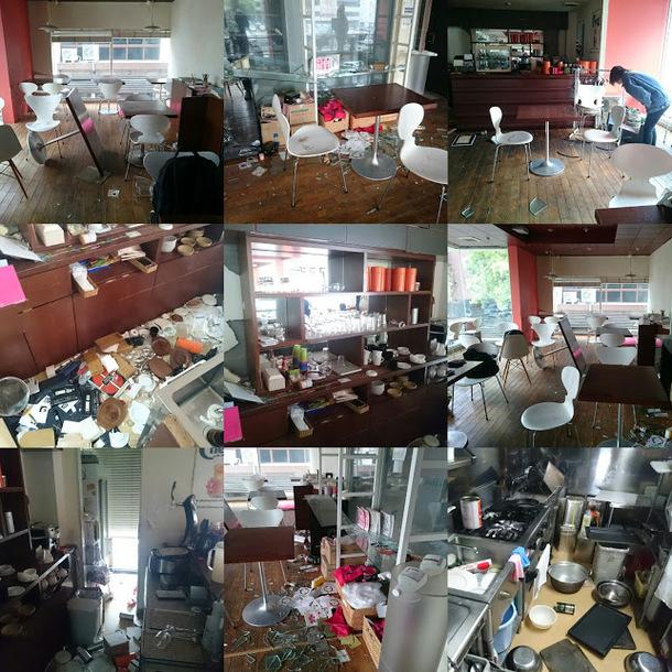 熊本地震による被害の一部