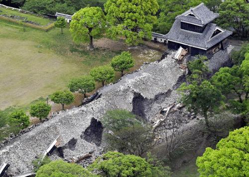 熊本地震により被災した熊本城