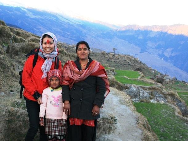 ネパール、パカ村にて