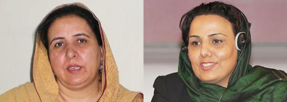 ゲストのルクシャンダ・ナズさん(パキスタン)とマリー・アクラミさん(アフガニスタン)
