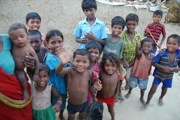 インド スジャータ村の子ども達