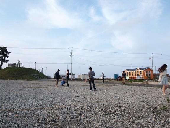慰霊碑が建立される用地の様子(2014年6月)