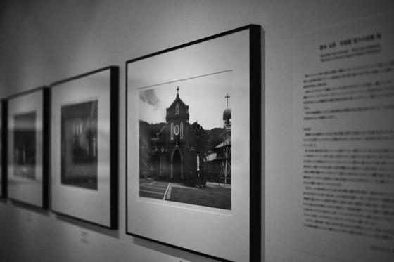 五島列島の写真展風景、「祈りの記憶」Gallery EM nishiazabu、2013