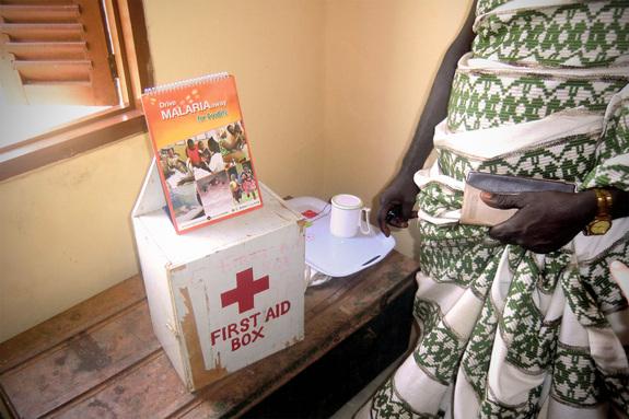 村の学校にある救急箱