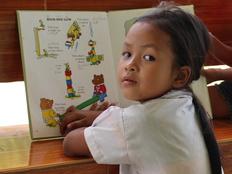 ラオスの幼稚園にある図書スペースに100冊の絵本を寄付したい