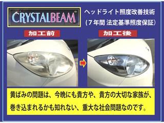 ヘッドライトを明るくして、夜間の人身事故を1件でも減らしたい